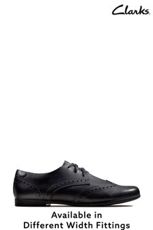 Clarks Black Scala Lace Shoe