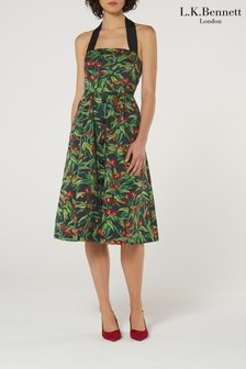 L.K.Bennett Black Novak Cotton Dress