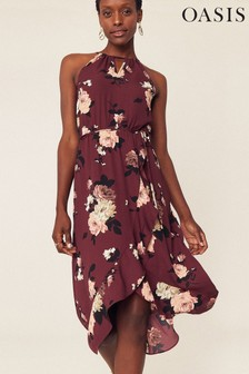 Oasis Natural Wild Rose Dress