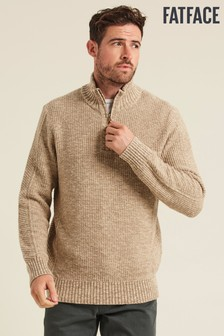Fatface Natural Chesham Half Neck Jumper