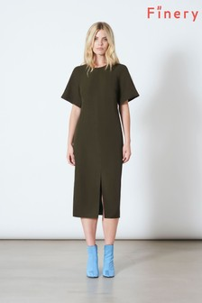 Finery London Khaki Cedar Dress