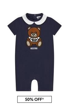 Moschino Kids Baby Boys Cotton Romper