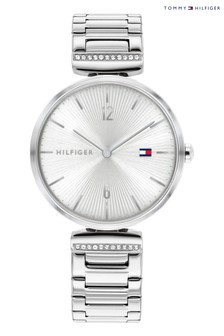 Tommy Hilfiger Stainless Steel And Crystal Watch