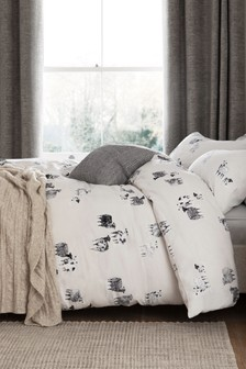 100% Brushed Cotton Sheep Duvet Cover And Pillowcase Set
