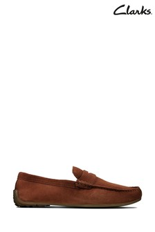 Clarks British Tan Reazor Penny Shoes