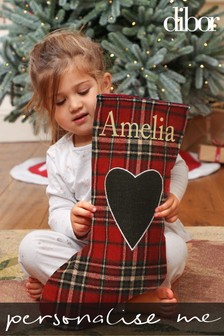Personalised Tartan Heart Stocking by Dibor