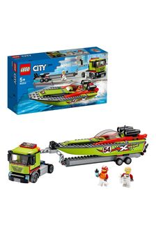 LEGO 60254 City Great Vehicles Race Boat Transporter Set