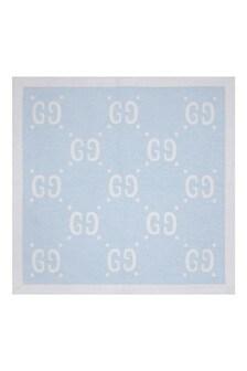 Boys Blue Wool GG Blanket