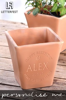 Personalised Name Plant Pot by Letterfest
