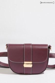 Warehouse Purple Clasp Detail Belt Bag