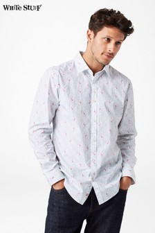 White Stuff White Koi Print Shirt