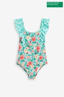 Benetton Blue Floral Swimsuit