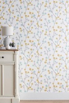 Paste the Paper Bobble Sprig Wallpaper