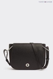 Tommy Hilfiger Black Core Saddle Bag
