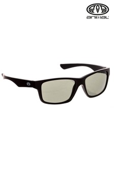 Animal Black Reflector Wrap Around Sunglasses