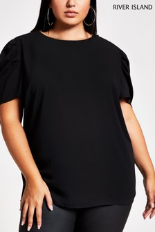 River Island Black 80s T-Shirt