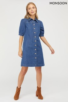 Monsoon Blue Eliza Denim Dress
