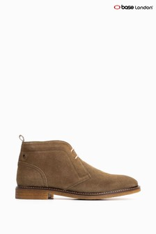 Base London® Green Lawson Suede Sage Lace-Up Chukka Boots