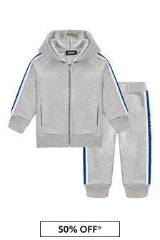 Diesel Baby Boys Grey Cotton Tracksuit