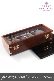Personalised Wooden Watch Box by Treat Republic