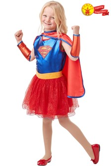 Rubies Blue Supergirl Fancy Dress Costume  sc 1 st  Next & Buy Older Girls Younger Girls Fancy Dress Blue Fancydress from the ...