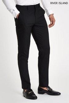 River Island Black Smart Sloane Slim Trousers