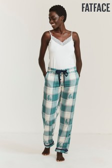 FatFace Green Jacquard Penguin Pants