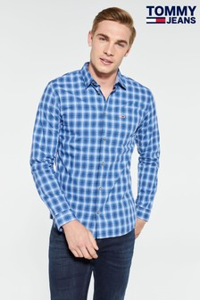 Tommy Jeans Essential Blue Check Shirt