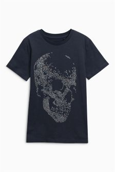 Studded Skull T-Shirt (3-16yrs)