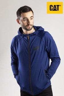 CAT® Blue Contour Zip Up Sweatshirt