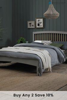Whitby Scandi Oak Grey Low Footend Bedstead by Bentley Designs