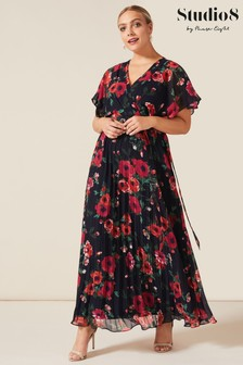 Studio 8 Blue Lydia Floral Maxi Dress