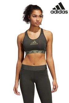 adidas Don't Rest Logo Medium Support Padded Sports Bra