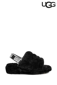 UGG® Black Fluff Yeah Slide Slippers