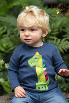 Frugi Organic Number 1 Birthday Top With A Rainbow Appliqué