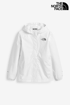 The North Face® Girls Resolve White Waterproof Jacket