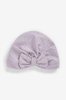 Modny turban ze wzorem pointelle (0-18 m-cy)