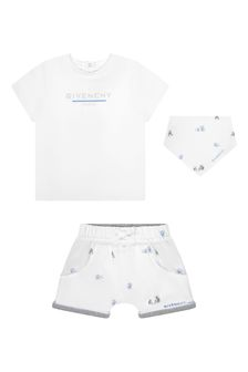 Givenchy Kids Baby White Cotton Outfit