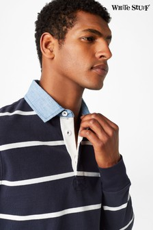 White Stuff Blue Crossfield Stripe Rugby Shirt