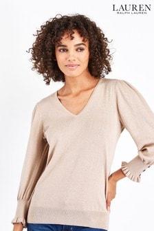 Lauren Ralph Lauren® Rose Jazya Puff Sleeve Jumper