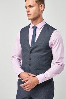 Textured Birdseye Suit: Waistcoat