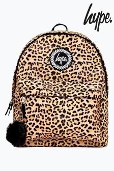 Hype. Leopard Pom Pom Backpack
