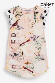Baker by Ted Baker Floral Printed Jersey Dress