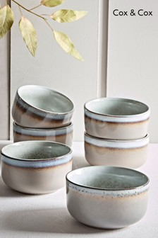 Set of 6 Cox & Cox Maja Stoneware Cereal Bowls