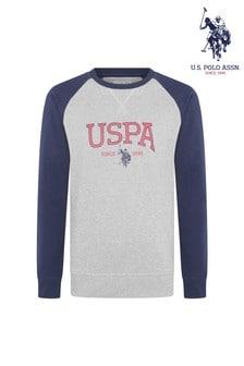 U.S. Polo Assn. Varsity Distorted Logo Crew Sweatshirt