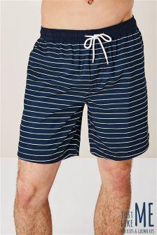 Črtaste kopalne kratke hlače Breton