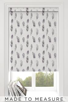 Feather Mist Grey Made To Measure Roller Blind
