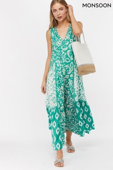 Monsoon Ladies Blue Cori Maxi Dress