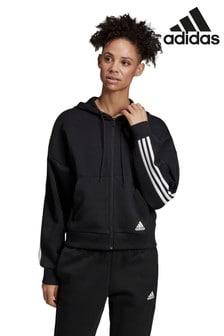 Худи черного цвета с 3 полосками adidas Must Have