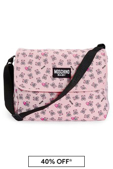 Baby Girls Pink Cotton Changing Bag